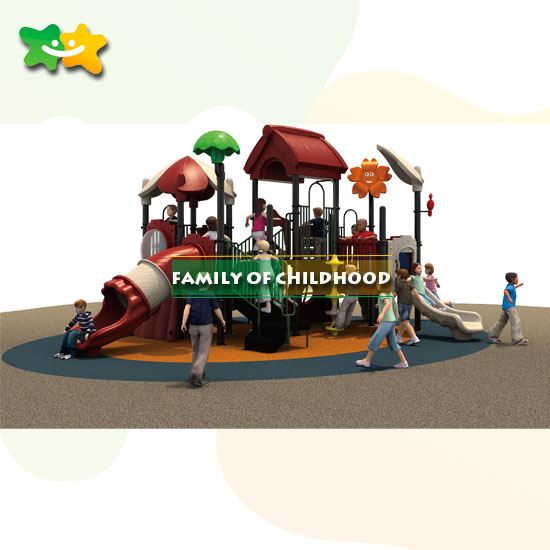 Outdoor Play Equipment: Commercial Kids Plastic Slide Outdoor Playground Equipment