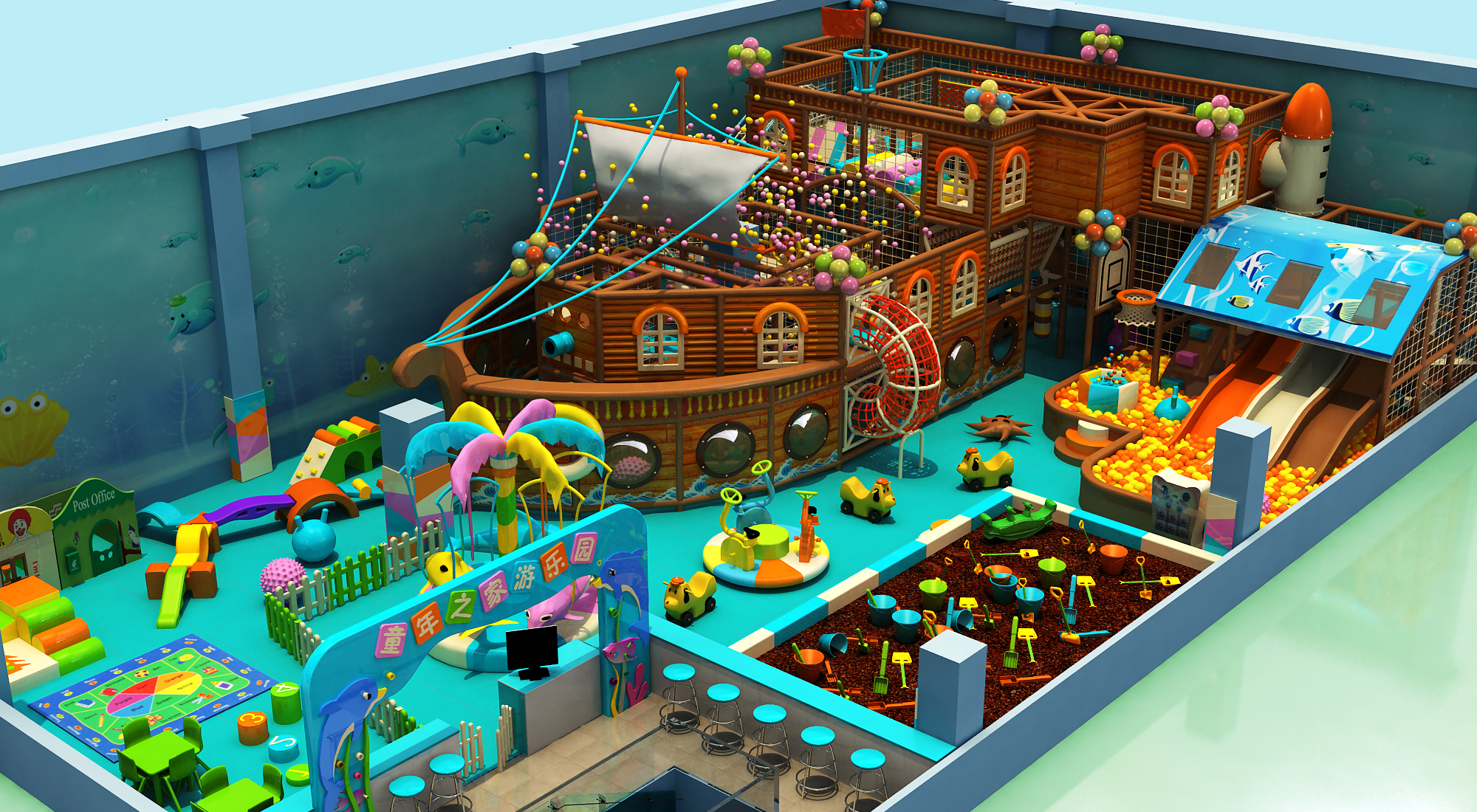 Ocean indoor playground