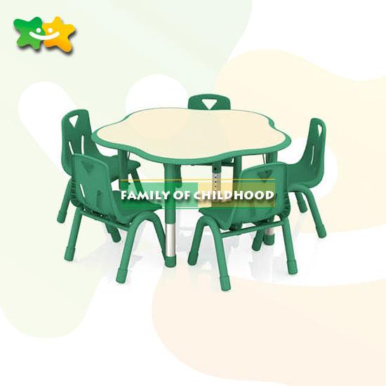 school plastic table furniture plum shape for kids