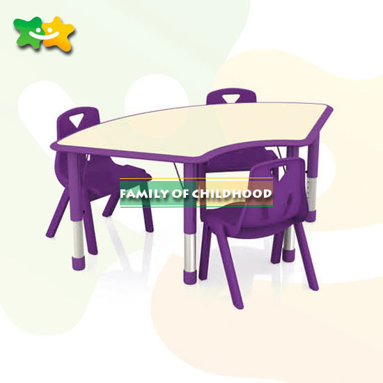 plastic table kids furniture study with ISO&CE for preschool