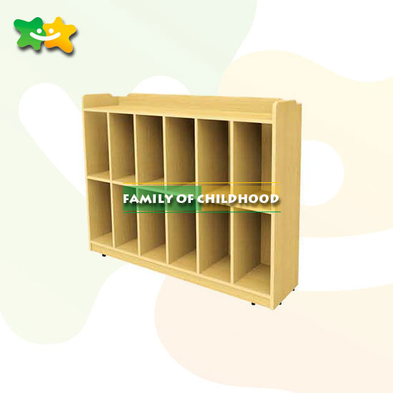 School Wood Shelveskids Bookshelf In Daycare With CE