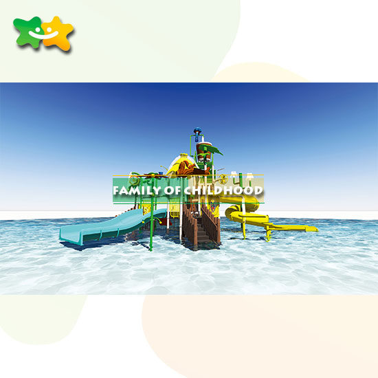 biggest water park equipment slide for factory manufactured