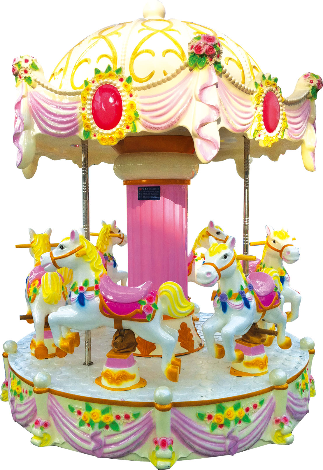 palace carousel amusement equipment merry-go-round for 6 seater