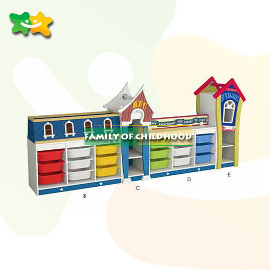 multifunction Kindergarten furniture, kids cabinet for sale