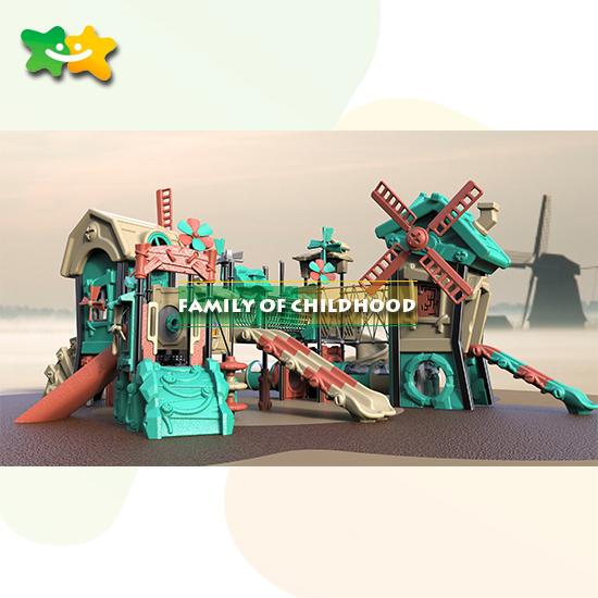 amusement park tube slide parts outdoor playground equipment