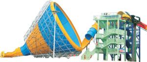 水上乐园设备,大型喇叭滑道,水上公园游乐场设备