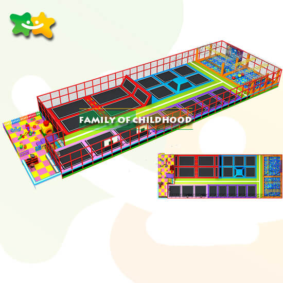 play area trampolines