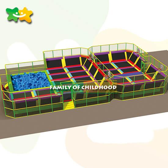 large indoor trampoline