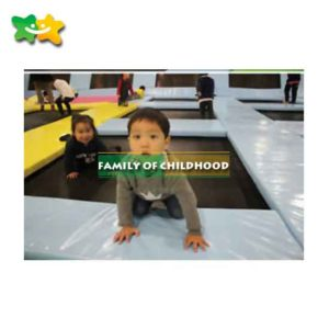 family of childhood,children bungee trampolines,amusement park