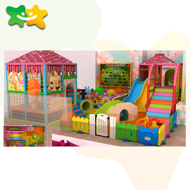 Children Indoor Playground Equipment, Plastic Playground Set