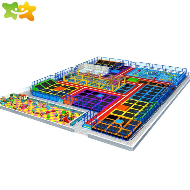 trampoline park equipment,big rectangular trampolines,family of childhood