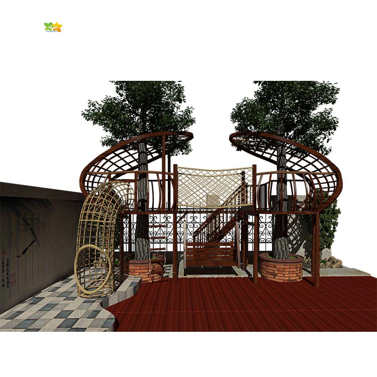 Space Utilization Children Adventure Exploration Treehouse Climbing Net,familyofchildhood