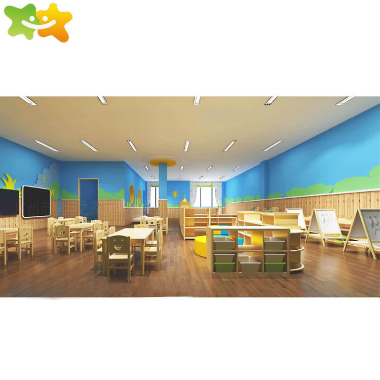 Kindergarten Preschool Wooden Multi-functional Integration Activity Room School Furniture,family of childhood