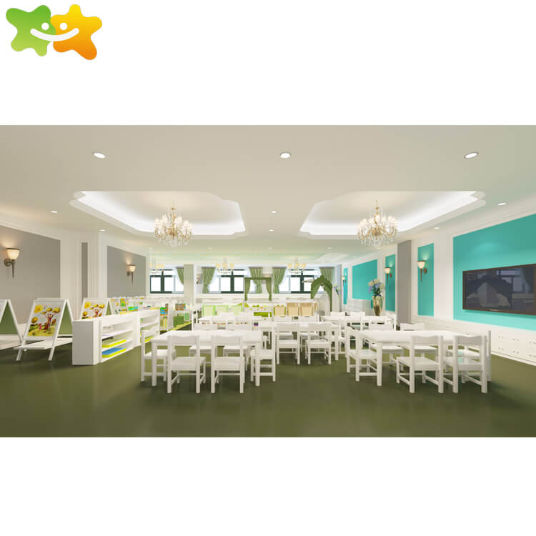 Kids study wooden desks and toys cabinet nursery school classroom furniture,family of childhood