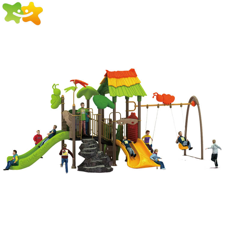 kindergarten park equipment kids plastic slide and swing,familyofchildhood