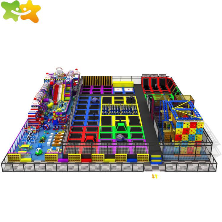 Large Trampoline Indoor Trampoline Price Kids Playground Trampoline Parks Supplier