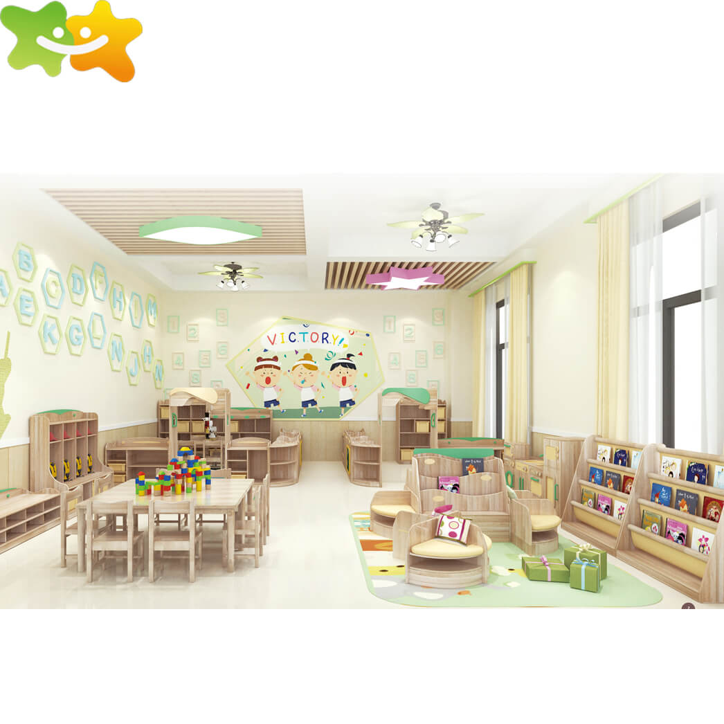Kindergarten Preschool Wood classroom Furniture table and chair
